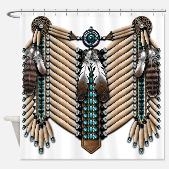 Native American Breastplate - Shower Curtain