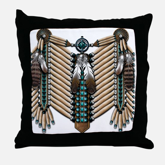 Native American Breastplate - Throw Pillow