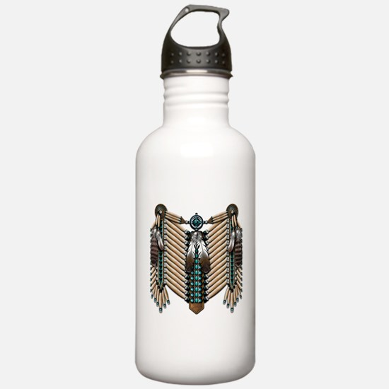 Native American Breastplate - Water Bottle