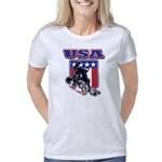 Patiotic USA Snowboarder Women's Classic T-Shirt