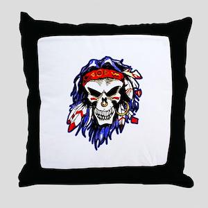 Savage Skull Throw Pillow
