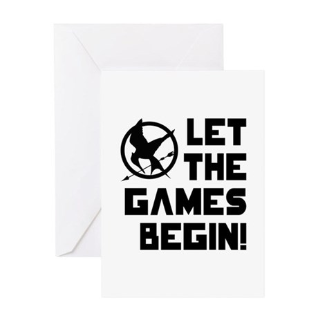 Let The Games Begin! The Hunger Games Greeting Car