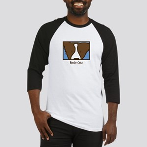 Anime Brown Border Collie Baseball Jersey