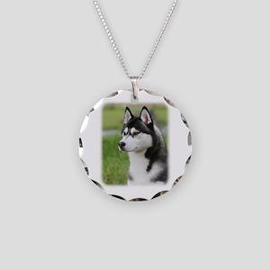 Siberian Husky 9Y570D-006 Necklace Circle Charm