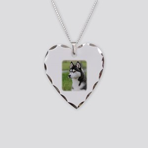 Siberian Husky 9Y570D-006 Necklace Heart Charm