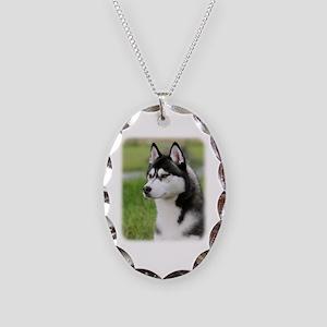 Siberian Husky 9Y570D-006 Necklace Oval Charm