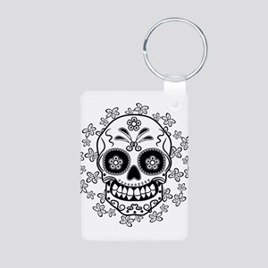 Sugar Skull Aluminum Photo Keychain