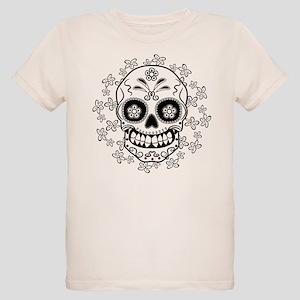 Sugar Skull Organic Kids T-Shirt