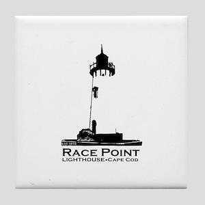 Race Point Lighthouse. Tile Coaster