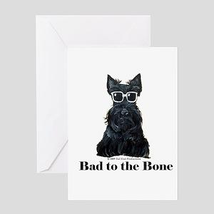 Scottie Bad to the Bone Greeting Card