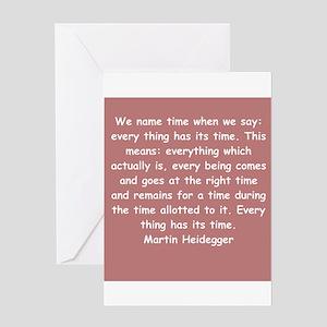 martin heidegger Greeting Card