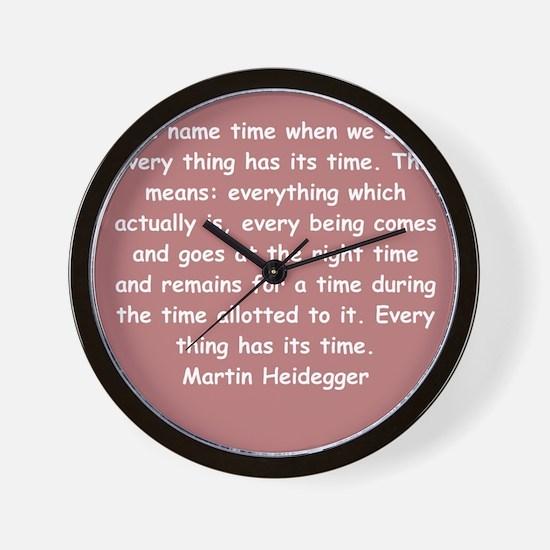 martin heidegger Wall Clock
