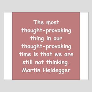 martin heidegger Small Poster