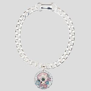 Sweet Sugar Skull Charm Bracelet, One Charm