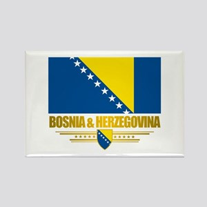 """Bosnia & Herzegovina Flag"" Rectangle Magnet"