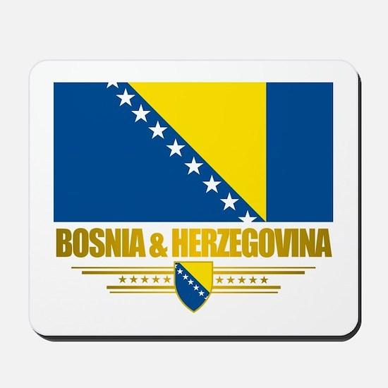 """Bosnia & Herzegovina Flag"" Mousepad"