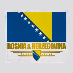 """Bosnia & Herzegovina Flag"" Throw Blanket"