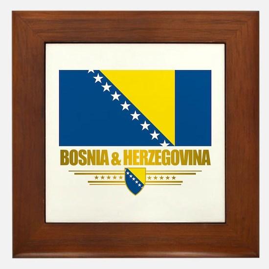 """""""Bosnia & Herzegovina Flag"""" Framed Tile"""
