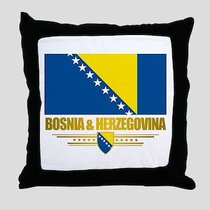 """""""Bosnia & Herzegovina Flag"""" Throw Pillow"""