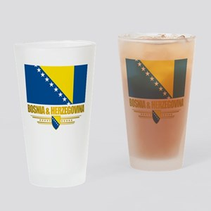 """Bosnia & Herzegovina Flag"" Drinking Glass"
