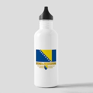 """""""Bosnia & Herzegovina Flag"""" Stainless Water Bottle"""