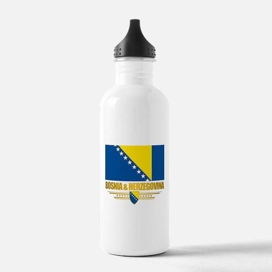 """""""Bosnia & Herzegovina Flag"""" Water Bottle"""