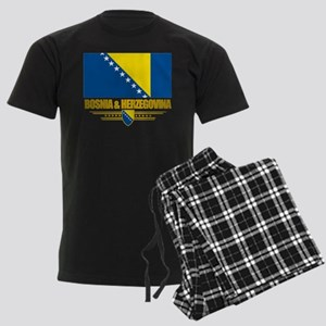 """Bosnia & Herzegovina Flag"" Men's Dark Pajamas"