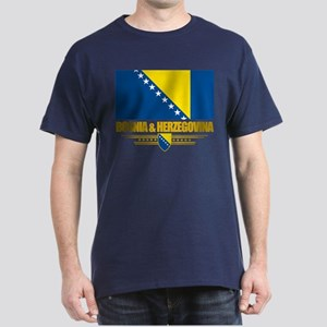 """Bosnia & Herzegovina Flag"" Dark T-Shirt"