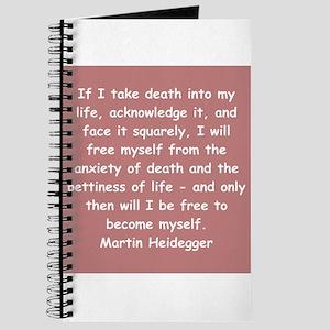 martin heidegger Journal