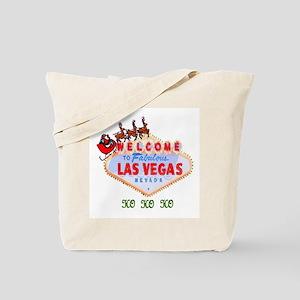 Santa on Las Vegas Sign HO HO HO Tote Bag