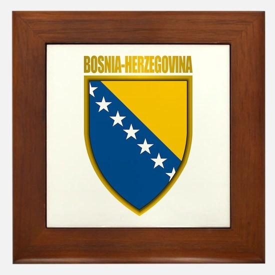 """""""Bosnia & Herzegovina COA"""" Framed Tile"""