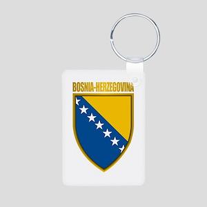 """""""Bosnia & Herzegovina COA"""" Aluminum Photo Keychain"""