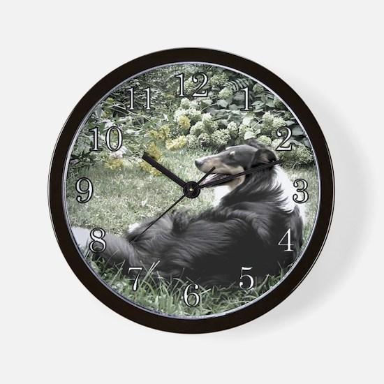 Collie Garden Wall Clock