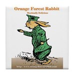 Orange Forest Rabbit Tile Coaster