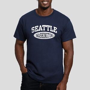 Seattle Washington Men's Fitted T-Shirt (dark)
