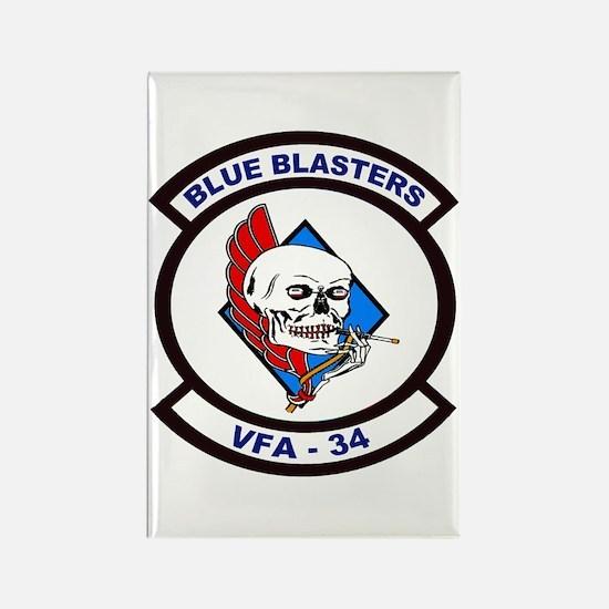 VFA 34 Blue Blasters Rectangle Magnet