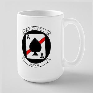 VFA 41 Black Aces Large Mug