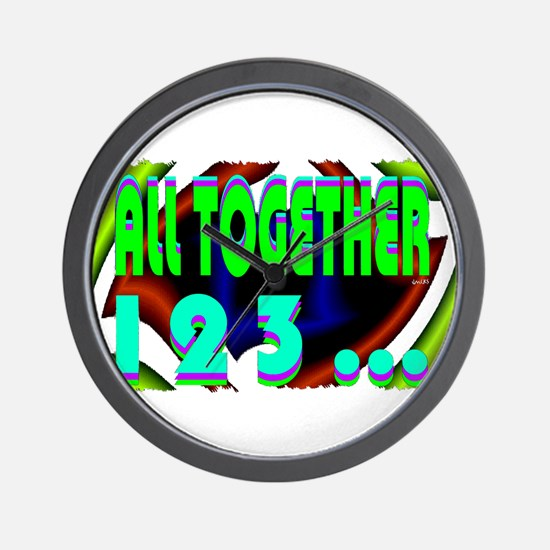 all together now 123 Wall Clock
