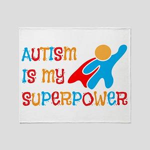 Cute Autism Throw Blanket