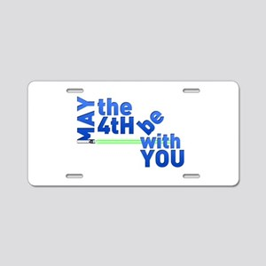 May the 4th Aluminum License Plate