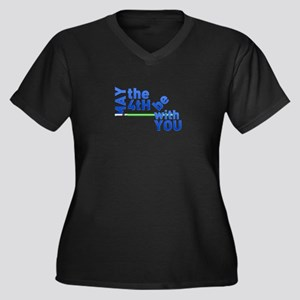 May the 4th Women's Plus Size V-Neck Dark T-Shirt
