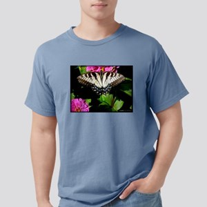 Swallowtail Butterfly and Zinnias Mens Comfort Col