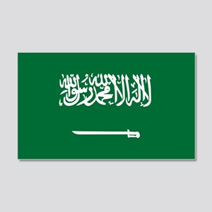 Saudi Arabia Flag 22x14 Wall Peel