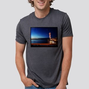 Dobbins Landing at Twilight Mens Tri-blend T-Shirt