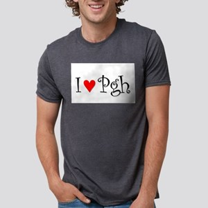I Love Pittsburgh Mens Tri-blend T-Shirt