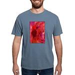 Pink Leaves Mens Comfort Colors Shirt