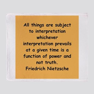 nietzsche gifts and apparel. Throw Blanket