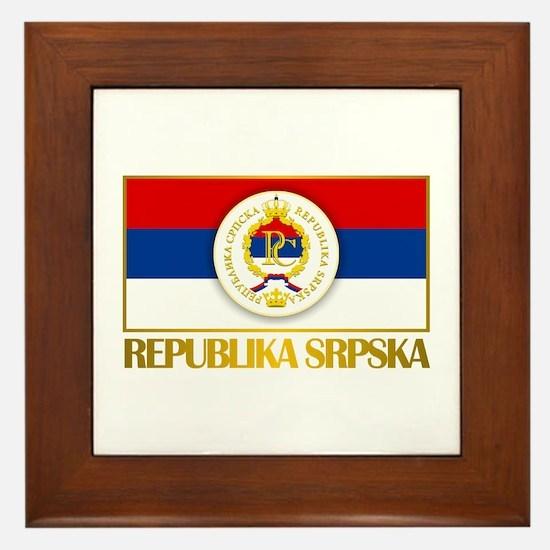 """Republika Srpska Framed Tile"