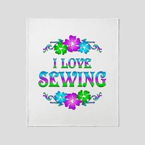 Sewing Love Throw Blanket