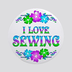 Sewing Love Ornament (Round)